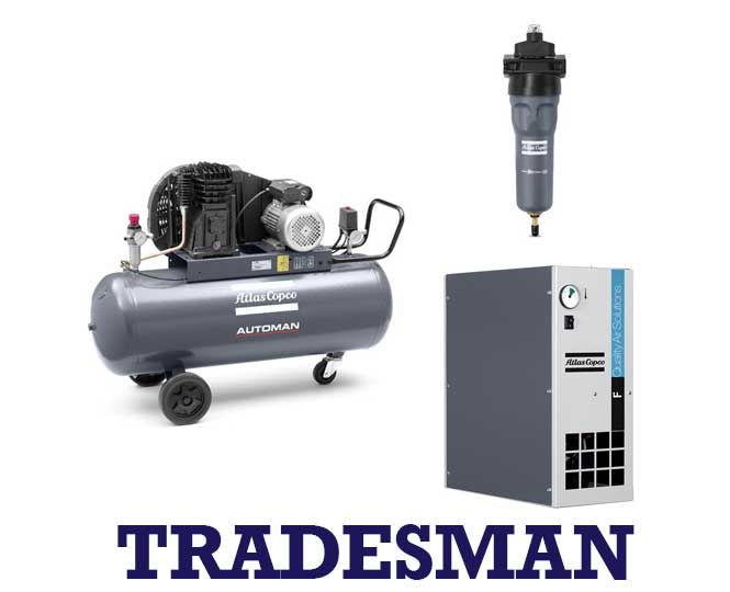 Atlas Copco – Bundle – Tradesman Pack – 2hp – 3.8 Cfm