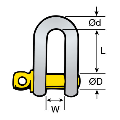 Shackle – Dee – Screw Pin